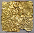 Sezione di una corona sacerdotale con elio che guida una quadriga, oro, gorgippia, ponto del nord, I sec dc..JPG