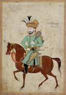 Shah Safi I of Persia on Horseback Carrying a Mace- Sahand Ace.png