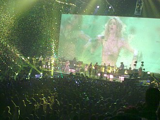 "Waka Waka (This Time for Africa) - Shakira performing ""Waka Waka (This Time for Africa)"" during a concert show in Manchester, England"