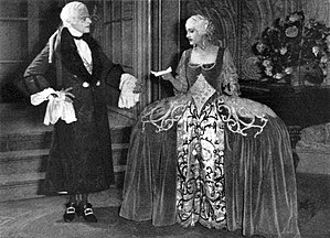 Lowell Sherman - Lowell Sherman and Katharine Cornell in the Broadway production of Casanova (1923)