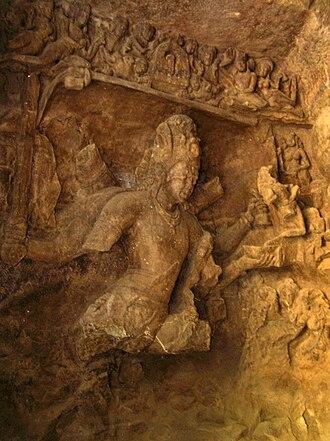 Elephanta Caves - Shiva slaying Andhaka