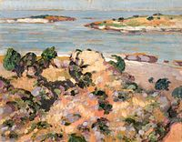 4e8a49d3351 Shore of Saaremaa, by Estonian artist Konrad Mägi (1913–1914).