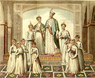 Shuja-ud-Daula - Shuja-ud-Daula with his sons and relatives.