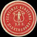 Siegelmarke Gemeinde-Vorstand Markersdorf W0321163.jpg