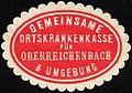 Siegelmarke Gemeinsame Ortskrankenkasse für Oberreichenbach und Umgebung W0232327.jpg