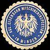 Siegelmarke Königliche Eisenbahn Maschineninspection in Minden W0219469.jpg