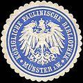 Siegelmarke Königliche Paulinische Bibliothek - Münster in Westfalen W0226188.jpg