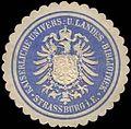 Siegelmarke Kaiserliche Universitäts - und Landes - Bibliothek - Strassburg im Elsass W0239828.jpg