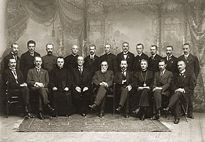 Lithuania - The original 20 members of the Council of Lithuania after signing the Act of Independence of Lithuania, 16 February 1918.