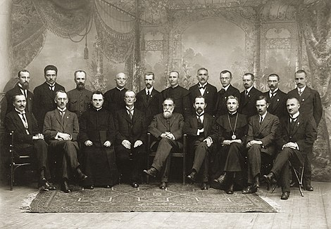 The original twenty members of the Council of Lithuania Signatarai.Signatories of Lithuania.jpg