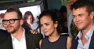 Kill Me Three Times - Simon Pegg, Alice Braga and Luke Hemsworth at the Los Angeles premiere of the film in March 2015.