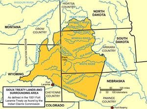 Treaty of Fort Laramie (1851) - The Lands of the 1851 Ft. Laramie Treaty