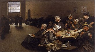Hubert von Herkomer - Eventide: A Scene in the Westminster Union (workhouse) (1878)