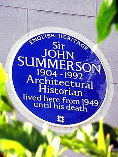John Summerson British architectural historian