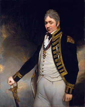 Troubridge en costume de contre-amiral, peint en 1804-5 par Sir William Beechey