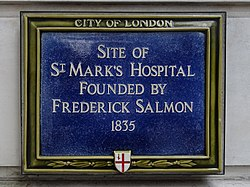 Site of st marks hospital founded by frederick salmon 1835