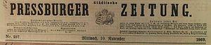 Germans in Czechoslovakia (1918–1938) - Pressburger Zeitung, 1869