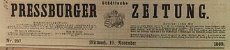 Germans in Czechoslovakia (1918–1938) - Pressburger Zeitung, 1869