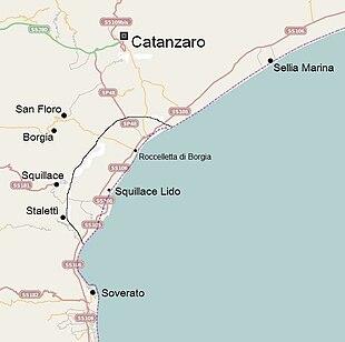 Area di probabile insistenza dell'antica colonia magnogreca di Skylletion, successivamente divenuta Minervia Scolacium in epoca romana.