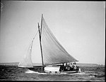 Sloop on Sydney Harbour with six people on board (7188147955).jpg