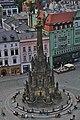 Sloup Nejsvětější Trojice z radniční věže, Olomouc.jpg