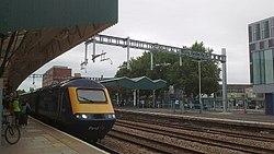 Slow progress with railway electrification (3), Newport Station (geograph 6011008).jpg