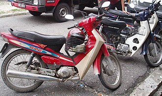 Snatch theft - These types of mopeds are typically used by snatch thieves
