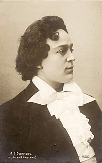 Eugene Onegin (opera) - Leonid Sobinov as Vladimir Lensky, 1898