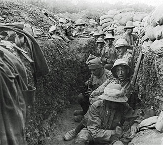 Trench - Soldiers in a trench during the Gallipoli Campaign of World War I
