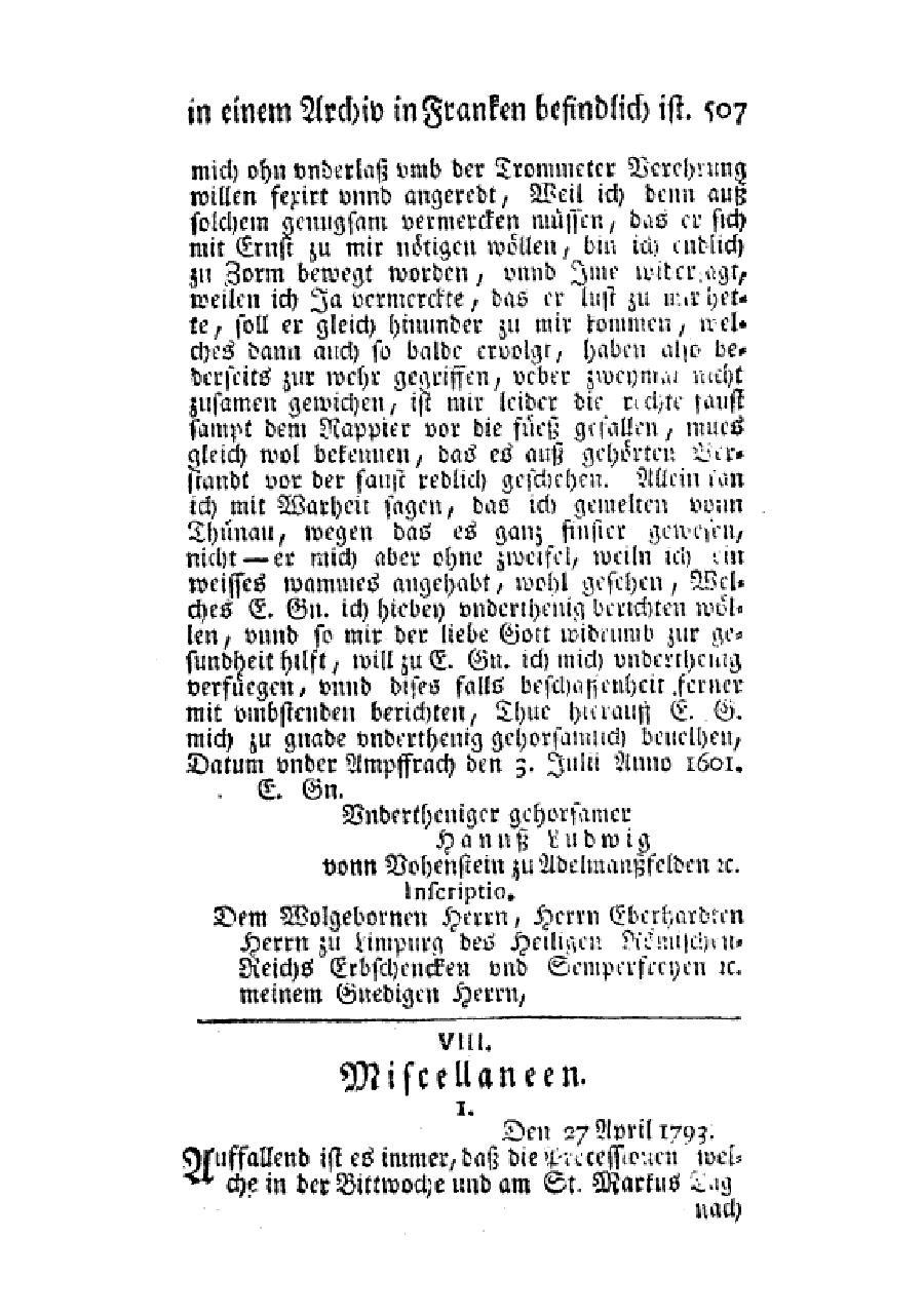 Seitesonderbarer Brief Wovon Das Original In Einem Archiv In