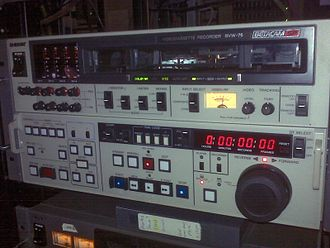 Color suite - Sony BetacamSP BVW-75 Editing VTR in a 19-inch rack.