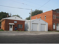 The Post Office (and Odd Fellows Hall) in South English as they appeared in August of 2013.