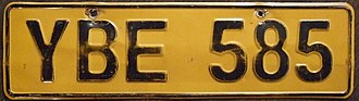 Vehicle registration plates of South Africa - A 1977 license plate from Ditsobotla, Bophuthatswana Homeland.