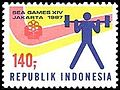 Southeast Asian Games 1987 stamp of Indonesia.jpg