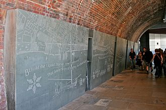 River Thames frost fairs - The first panels of the engraving