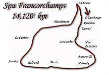 Spa-Francorchamps layout