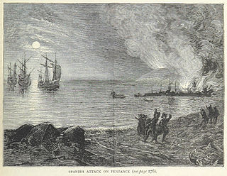 Raid on Mounts Bay Spanish raid on Cornwall in 1595 during the Anglo-Spanish war