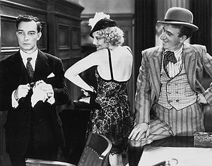 Thelma Todd - Buster Keaton, Thelma Todd and Jimmy Durante in Speak Easily (1932)