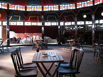 Spiegeltent - Indoor shot of Glimburgercafé's spiegeltent, near Meeswijk, Belgium
