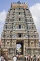 Sri Kailasanathar Temple gopuram in Tharamangalam, Tamil Nadu, India.jpg