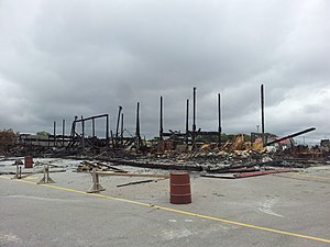 St. Jacobs Farmers' Market - Aftermath of the fire that destroyed the main building