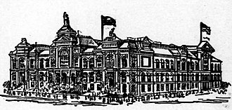 St. Louis Exposition and Music Hall - 1888 illustration