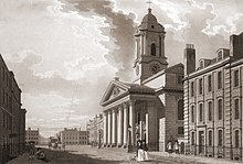 Historic picture of the church of St George's Hanover Square
