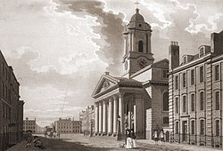 St George's Hanover Square by T Malton. 1787