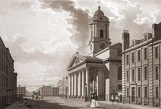 Mayfair - Image: St George's Hanover Square by T Malton. 1787