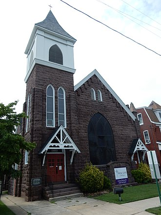 Shillington, Pennsylvania - Image: St Lukes Evangelical Church, Shillington PA