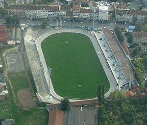 Stadion Kranjčevićeva - Image: Stadion Kranjceviceva air