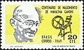 Stamp of Brazil - 1969 - Colnect 263166 - Century Birth Mahatma Gandhi.jpeg