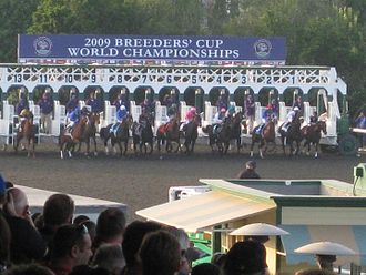 2009 Breeders' Cup Classic - Start of 2009 Breeders Cup Classic at Santa Anita