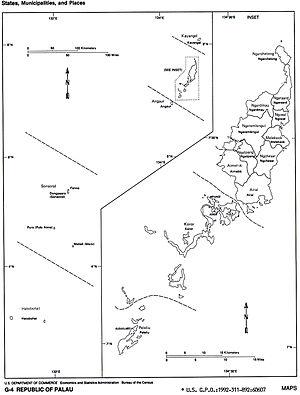 States of Palau - 16 states of Palau